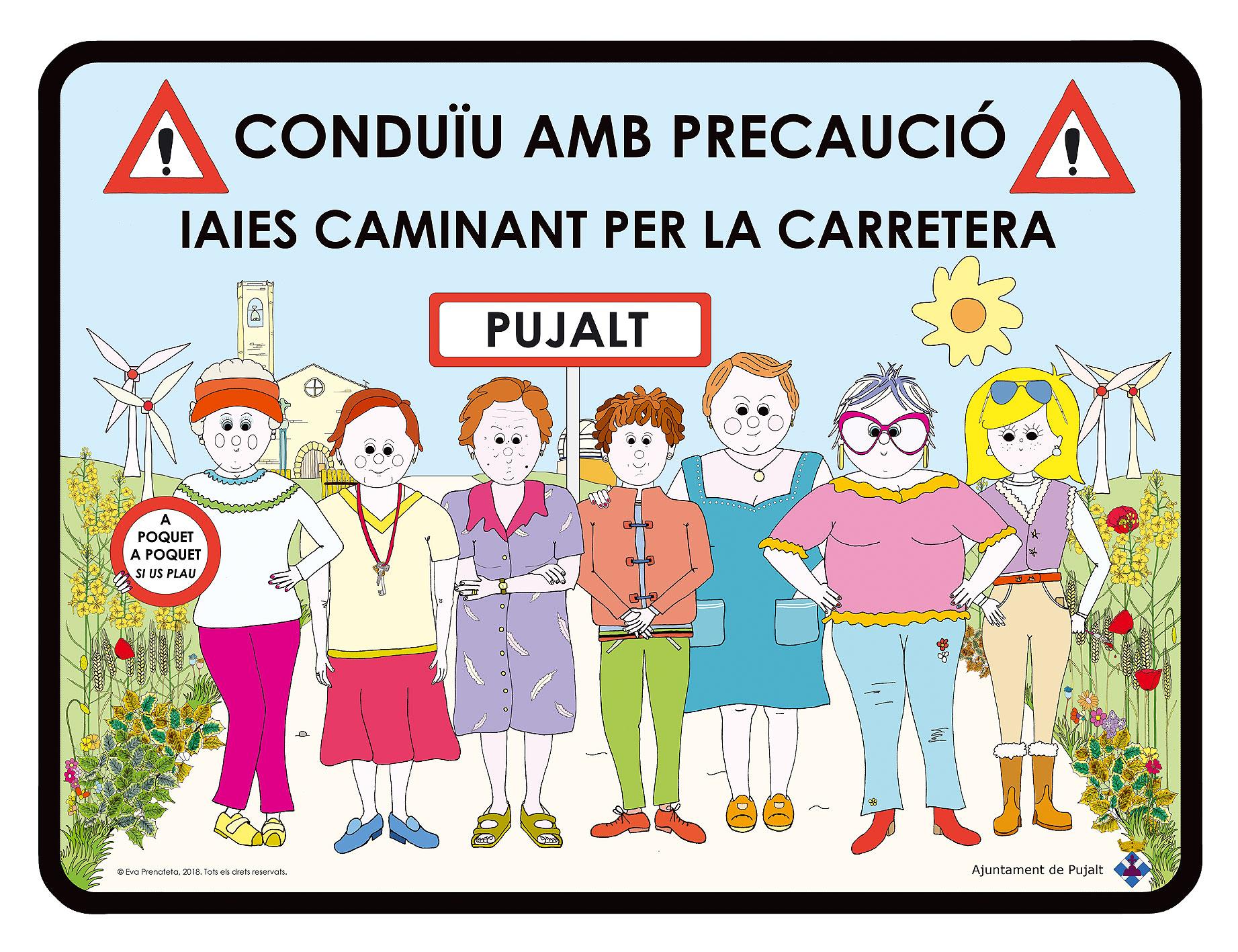 Cartell Iaies Carretera Pujalt - Juny 2018
